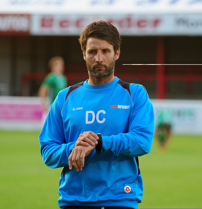 Lincoln City manager Danny Cowley <br /> <br /> Photographer Andrew Vaughan/CameraSport<br /> <br /> Football - Vanarama National League - Dagenham &amp; Redbridge v Lincoln City - Tuesday 16th August -  Chigwell Construction Stadium - London<br /> <br /> World Copyright &copy; 2016 CameraSport. All rights reserved. 43 Linden Ave. Countesthorpe. Leicester. England. LE8 5PG - Tel: +44 (0) 116 277 4147 - admin@camerasport.com - www.camerasport.com