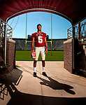 FSU quarterback Jameis Winston in the tunnel during the 2013 Florida State Football Media Day in Doak S. Campbell Stadium in Tallahassee, Florida.<br />