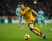 11th February 2019, Molineux, Wolverhampton, England; EPL Premier League football, Wolverhampton Wanderers versus Newcastle United; Diogo Jota of Wolverhampton Wanderers on the attack with the ball