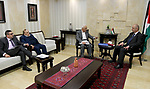 """Palestinian Prime Minister Rami al-Hamdallah meets with the committee charged with investigating the events that took place before the """"court complex"""" in Al-Bireh and in Bethlehem in the West Bank city of Ramallah on March 20, 2017. Photo by Prime Minister Office"""