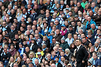 Swansea City manager Carlos Carvalhal looks on during the Premier League match between Manchester City and Swansea City at the Etihad Stadium, Manchester, England, UK. Sunday 22 April 2018