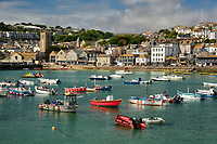 St. Ives Harbor.  St. Ives, Cornwall, England