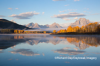 67545-09315 Sunrise at Oxbow Bend in fall; Grand Teton National Park; WY