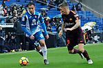 League Santander 2017-2018 - Game: 22.<br /> RCD Espanyol vs FC Barcelona: 1-1.<br /> Jose Manuel Jurado vs Lucas Digne.