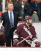 Don Vaughan (Colgate - Head Coach), Robbie Bourdon (Colgate - 17) - The Harvard University Crimson defeated the visiting Colgate University Raiders 4-2 on Saturday, November 12, 2011, at Bright Hockey Center in Cambridge, Massachusetts.