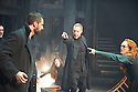 The Crucible by Arthur Miller, directed by Yael Farber. With  Richard Armitage as John Proctor, Adrian Schiller as Reverend John Hale, Samantha Colley as Abigail Williams, Jack Ellis as Deputy Governor Danforth, Natalie Gavin as Mary Warren [red hair]. Opens at The Old Vic Theatre  on 3/7/14  pic Geraint Lewis