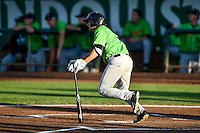 J.J. Franco (5) of the Great Falls Voyagers at bat against the Ogden Raptors in Pioneer League action at Lindquist Field on August 16, 2016 in Ogden, Utah. Ogden defeated Great Falls 2-1. (Stephen Smith/Four Seam Images)