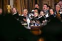 Chorus sings during Baccalaureate Service at Duke Chapel.