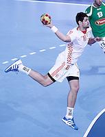 Croatia's Jakov Gojun during 23rd Men's Handball World Championship preliminary round match.January 14,2013. (ALTERPHOTOS/Acero) 7NortePhoto