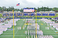 Annapolis, MD - September 8, 2018: Brigade of midshipmen march before game between Memphis and Navy at  Navy-Marine Corps Memorial Stadium in Annapolis, MD. (Photo by Phillip Peters/Media Images International)