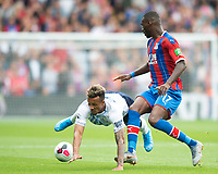 Everton Jean-Philippe Gbamin and Crystal Palace Christian Benteke during the Premier League match between Crystal Palace and Everton at Selhurst Park, London, England on 10 August 2019. Photo by Andrew Aleksiejczuk / PRiME Media Images.