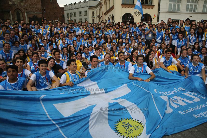 World Youth day Krakow 2016<br /> i papaboys argentini, giovani argentini