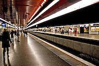 People waiting for a train at a Metro station Paris..©shoutpictures.com.john@shoutpictures.com