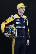 22nd March 2018, Melbourne Grand Prix Circuit, Melbourne, Australia; Melbourne Formula One Grand Prix, Arrivals and Press Conference; Renault Sport F1 Team, Nico Hulkenberg