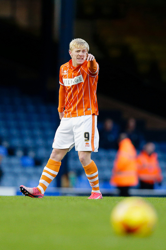 Blackpool's Mark Cullen reacts during today's match<br /> <br /> Photographer Craig Mercer/CameraSport<br /> <br /> Football - The Football League Sky Bet League One - Southend United v Blackpool - Saturday 21st November 2015 - Roots Hall - Southend<br /> <br /> &copy; CameraSport - 43 Linden Ave. Countesthorpe. Leicester. England. LE8 5PG - Tel: +44 (0) 116 277 4147 - admin@camerasport.com - www.camerasport.com