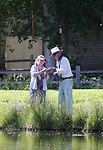 Breast cancer survivor Tammy May learns to flyfish with guide Dick Padgett during a Casting for Recovery retreat in Gardnerville, Nev., on Friday, June 30, 2017.  <br /> Photo by Cathleen Allison/Nevada Photo Source
