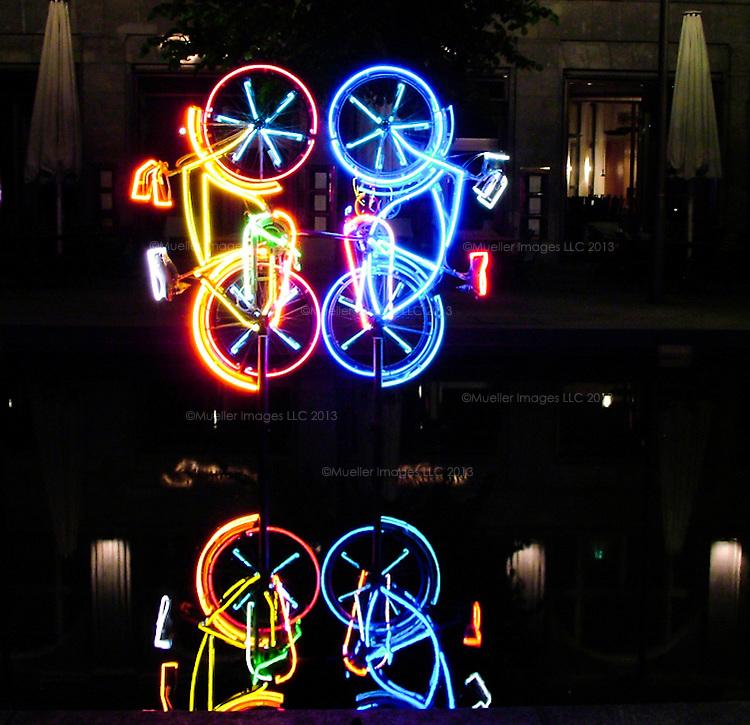 """Riding Bikes"" by R. Rauschenberg 1998, Berlin"