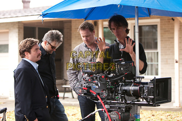 ZACH GALIFIANAKIS, A-camera/stedicam operator GEORGE BIANCHINI, writer CHRIS HENCHY and director JAY ROACH.on the set of The Campaign.*Filmstill - Editorial Use Only*.CAP/FB.Supplied by Capital Pictures.