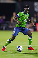 10th July 2020, Orlando, Florida, USA;  Seattle Sounders defender Yeimar Gomez (28) during the soccer match between the Seattle Sounders and the San Jose Earthquakes on July 10, 2020, at ESPN Wide World of Sports Complex in Orlando, FL.