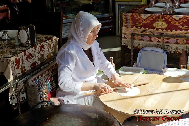 Woman Making Turkish Flatbread