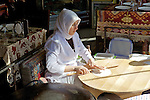 Woman Making Turkish Flatbread