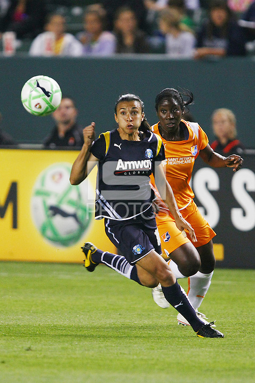 Marta #10 of the Los Angeles Sol chases a loose ball against  Sky Blue FC during their WPS game at Home Depot Center on May 15, 2009 in Carson, California.Marta #10 of the Los Angeles Sol chases a loose ball against  Sky Blue FC during their WPS game at Home Depot Center on May 15, 2009 in Carson, California.