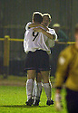25/03/2003                   Copright Pic : James Stewart.File Name : stewart-alloa v ayr 12.STEPHEN WHALEN IS CONGRATULATED BY JAMES GRADY AFTER SCORING THE THIRD....James Stewart Photo Agency, 19 Carronlea Drive, Falkirk. FK2 8DN      Vat Reg No. 607 6932 25.Office     : +44 (0)1324 570906     .Mobile  : +44 (0)7721 416997.Fax         :  +44 (0)1324 570906.E-mail  :  jim@jspa.co.uk.If you require further information then contact Jim Stewart on any of the numbers above.........