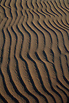 Sand patterns late afternoon, Corralejo, Fuerteventura, Canary Islands, Spain.