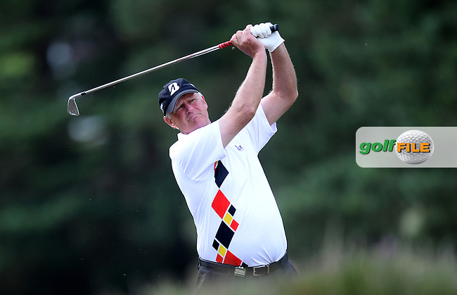 Sandy Lyle of Scotland in action during the First Round of The Senior Open at Sunningdale Golf Club, Sunningdale, England. Picture: Golffile | Richard Martin-Roberts<br /> All photo usage must carry mandatory copyright credit (&copy; Golffile | Richard Martin- Roberts)