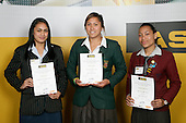 Girls Rugby Union finalists Vienna James, Aroha Savage & Margaret Mika-Tai. ASB College Sport Young Sportperson of the Year Awards 2007 held at Eden Park on November 15th, 2007.