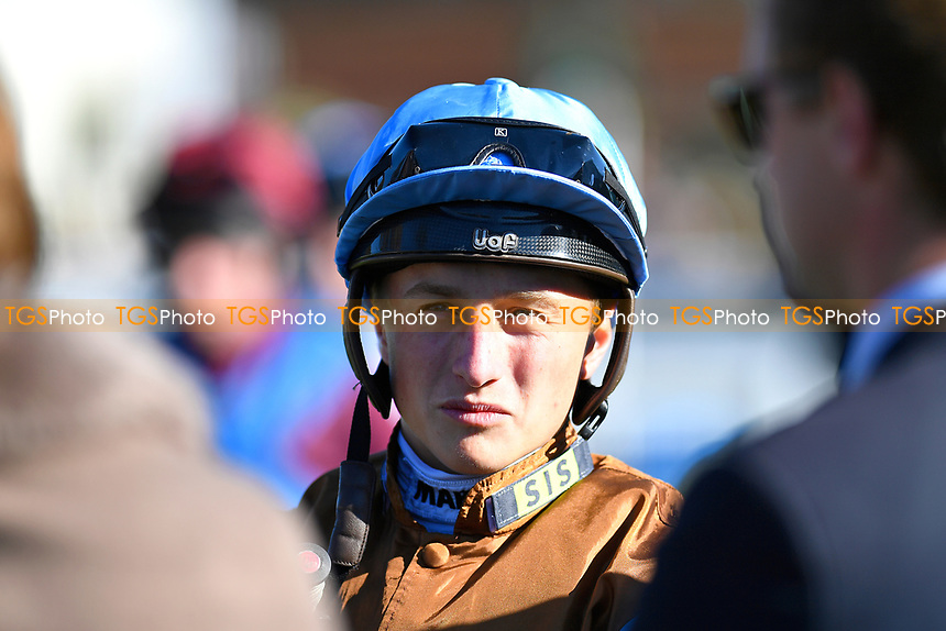 Jockey Tom Marquand during Afternoon Racing at Salisbury Racecourse on 3rd October 2018