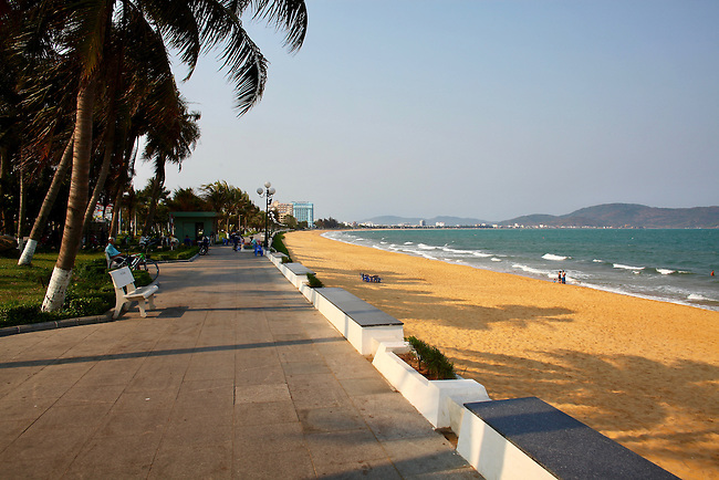 Beachfront promenade. Quy Nhon, Vietnam. April 26, 2016.