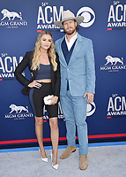 LAS VEGAS, CA - APRIL 07: Brittney Marie Kelley (L) and Brian Kelley of Florida Georgia Line  attend the 54th Academy Of Country Music Awards at MGM Grand Hotel &amp; Casino on April 07, 2019 in Las Vegas, Nevada.<br /> CAP/ROT/TM<br /> &copy;TM/ROT/Capital Pictures