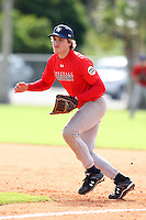 December 28, 2009:  Matthew Ondak (10) of the Baseball Factory Cornhuskers team during the Pirate City Baseball Camp & Tournament at Pirate City in Bradenton, FL.  Photo By Mike Janes/Four Seam Images