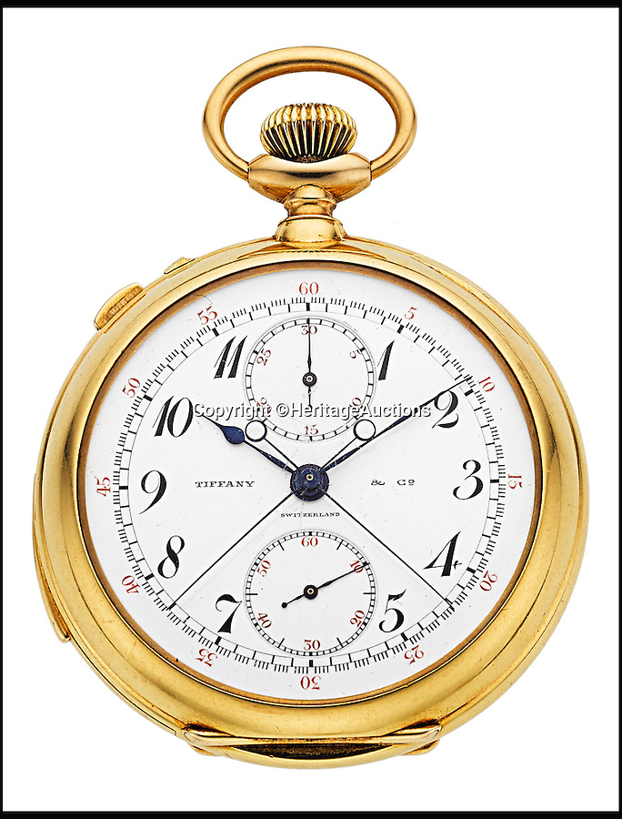 BNPS.co.uk (01202 558833)<br /> Pic: HeritageAuctions/BNPS<br /> <br /> A gold pocket watch given to WWII hero George S. Patton when he graduated from the USA's top military school has emerged for sale 71 years after the his finest moment.<br /> <br /> General Patton, who famously led a division of the US army following the Allied invasion of Normandy in 1944, was gifted the Tiffany watch in 1909 and carried it with him during battle in the First World War.<br /> <br /> Patton's parents George and Ruth had paid $350 - the equivalent of around £5,000 in today's money - for it to mark his completion of four years of training at West Point Academy.<br /> <br /> Experts had tipped the watch to fetch $35,000 - around £22,000 - when it goes under the hammer at Heritage Auctions on behalf of General Patton's descendants, but online bidding has already pushed the price up to $55,000 - £35,000 - with 10 days still remaining.