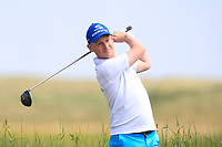 Geoff Lenehan (Portmarnock) on the 10th tee during Round 4 of the East of Ireland Amateur Open Championship 2018 at Co. Louth Golf Club, Baltray, Co. Louth on Monday 4th June 2018.<br /> Picture:  Thos Caffrey / Golffile<br /> <br /> All photo usage must carry mandatory copyright credit (&copy; Golffile | Thos Caffrey)