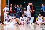 S&ouml;dert&auml;lje 2014-04-22 Basket SM-Semifinal 7 S&ouml;dert&auml;lje Kings - Uppsala Basket :  <br /> Uppsala Basket spelare deppar efter matchen<br /> (Foto: Kenta J&ouml;nsson) Nyckelord:  S&ouml;dert&auml;lje Kings SBBK Uppsala Basket SM Semifinal Semi T&auml;ljehallen depp besviken besvikelse sorg ledsen deppig nedst&auml;md uppgiven sad disappointment disappointed dejected