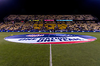 COLUMBUS, OH - NOVEMBER 07: The center circle banner sits on the field at Mapfre Stadium during a game between Sweden and USWNT at Mapfre Stadium on November 07, 2019 in Columbus, Ohio.