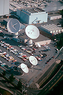 Silicon Valley, California - February 1983. The Lockheed factory, with its communications antennae. Silicon Valley is the largest high-tech manufacturing center in the United States, and is the region most famous for innovations in software and Internet services.