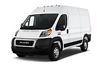 2019 Ram Promaster Base 3 Door Cargo Van angular front stock photos of front three quarter view
