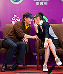 HAIKOU, CHINA - OCTOBER 28:  Hollywood actor Matthew McConaughey (L) and Oscar-winning actress Catherine Zeta-Jones laugh during a press conference as part of the Mission Hills Star Trophy on October 28, 2010 in Haikou, China. The Mission Hills Star Trophy is Asia's leading leisure liflestyle event and features Hollywood celebrities and international golf stars. Photo by Victor Fraile / The Power of Sport Images
