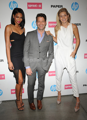 New York,NY- October 29: Chanel Iman, Nate Berkus, Gigi Hadid attends the red carpet at the Sprout by HP and HP Multi Jet Fusion 3D Printer Launch Event in New York City on October 29,2014.  Credit: John Palmer/MediaPunch