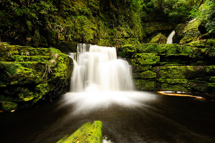 McLean Falls, Catlins, Otago,NZ - stock photo, canvas, fine art print