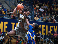 Reshanda Gray of California controls the ball during the game against Bakersfield at Haas Pavilion in Berkeley, California on December 15th, 2013.  California defeated Bakersfield Roadrunners, 70-51.