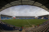 A birds eye view of the Weston Homes Community Stadium before Colchester United vs Cheltenham Town, Sky Bet EFL League 2 Football at the Weston Homes Community Stadium on 6th January 2018