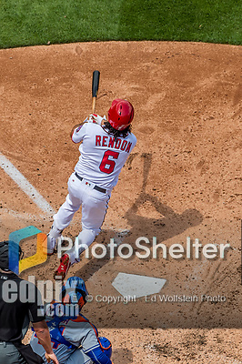 30 April 2017: Washington Nationals third baseman Anthony Rendon hits the first of his 3 home runs of the game in the 3rd inning against the New York Mets at Nationals Park in Washington, DC. The Nationals defeated the Mets 23-5, with the Nationals setting several individual and team records, in the third game of their weekend series. Mandatory Credit: Ed Wolfstein Photo *** RAW (NEF) Image File Available ***