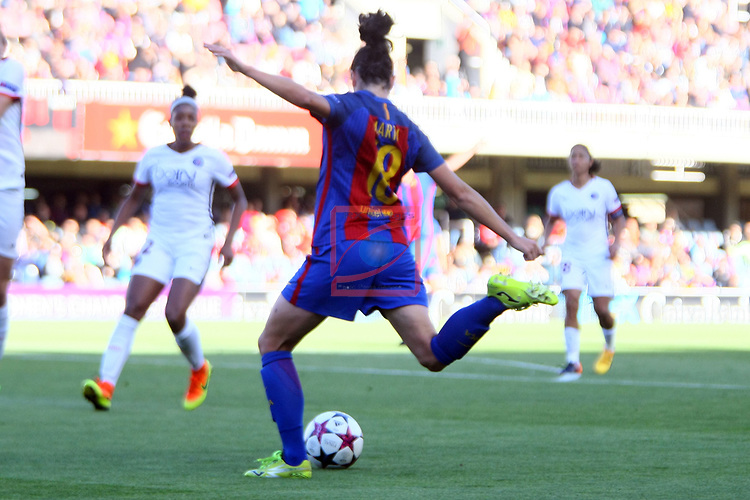 UEFA Women's Champions League 2016/2017.<br /> Semifinals.<br /> FC Barcelona vs Paris Saint Germain: 1-3.<br /> Marta Torrejon.