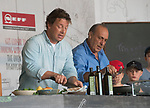 Gennaro Contaldo and Jamie Oliver at the Big Feastival 2017, at  Alex James' farm Kingham Oxfordshire uk
