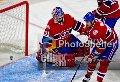 31 January 2009: Montreal Canadiens' goaltender Carey Price gives one up in the  second period to the Los Angeles Kings at the Bell Centre in Montreal, Quebec, Canada. The Canadiens defeated the Kings 4-3. ***** Editorial Sales Only ***** Mandatory Photo Credit: Ed Wolfstein Photo