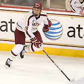 Chris Kreider (BC - 19) - The visiting Merrimack College Warriors tied the Boston College Eagles at 2 on Sunday, January 8, 2011, at Kelley Rink/Conte Forum in Chestnut Hill, Massachusetts.
